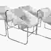 Artopex Set of 4 Lotus Series Space Age Modern Lounge Chairs Designed by Paul Boulva for the 1976 Montreal Olympics Canada (Set #2)