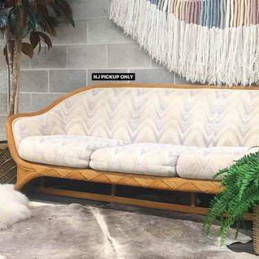 NJ PICKUP ONLY ———— Vintage Ficks Reed Rattan Sofa by RetrospectVintage215