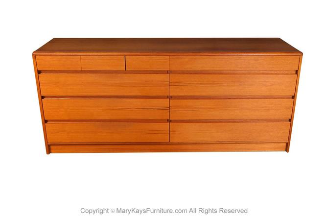 Mid Century Danish Teak Double Dresser by Marykaysfurniture