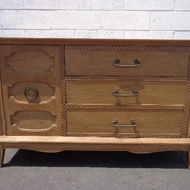 Mid Century Modern Furniture Sideboard Wood Dresser Console Vintage Cabinet Chest Storage Table Carved Bohemian Boho CUSTOM PAINT AVAIL by DejaVuDecors