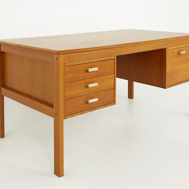 Farso Stolefabrik for Maurice Villency Mid Century Danish Teak Desk - mcm by ModernHill