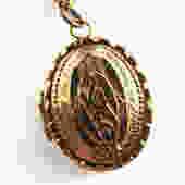 Antique Large Victorian Locket on Chain by LegendaryBeast