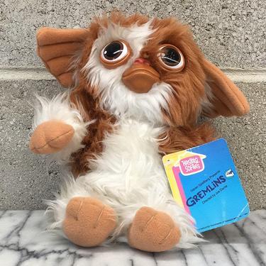 Vintage Gizmo Retro 1980s Gremlins + Stuffed Animal + Plush Kids Toy + Fantasy or Sci Fi + Movie Memorabilia + Joe Dante + Steven Spielberg by RetrospectVintage215