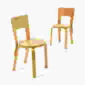 Pair of Aalto Model 66 chairs