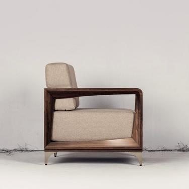 Walnut Sofa, Walnut Chair, Single, Walnut upholstered chair -U&O -Ekais by Ekais