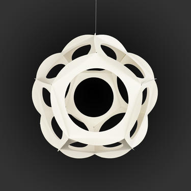 """1968 """"Lotus 2"""" Paper Sculpture Spaceforms Mobile Geometric Mid Century Modern by VintageInquisitor"""