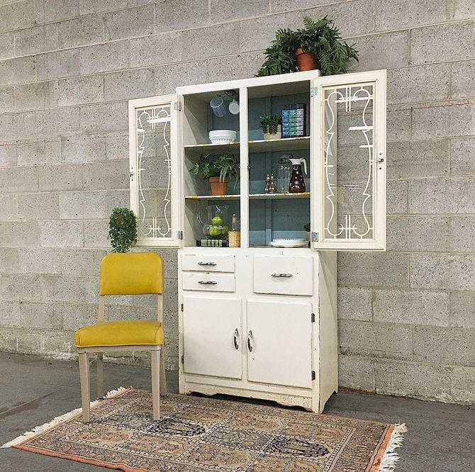LOCAL PICKUP ONLY -------------- Vintage Hutch by RetrospectVintage215