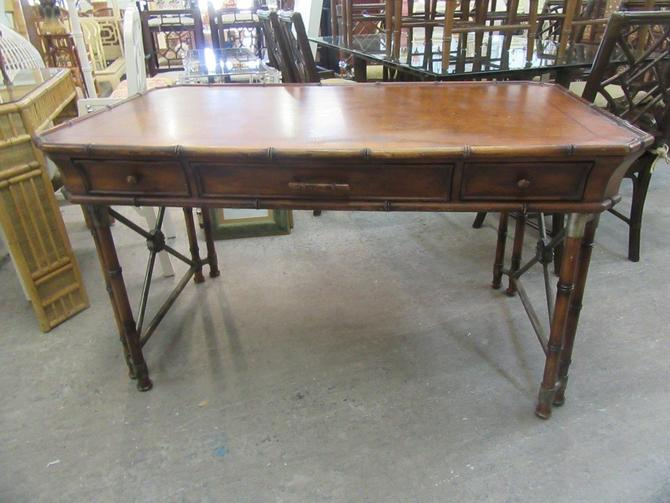 Handsome Faux Bamboo Writing Desk