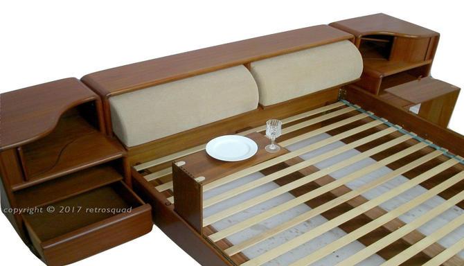 Danish Modern TEAK Floating Platform Bed By Kibaek in King Size by RetroSquad
