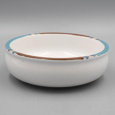 Dansk Mesa White Sand Salad Bowl | Vintage Southwestern Stoneware Dinnerware by MostlyMidCenturySF