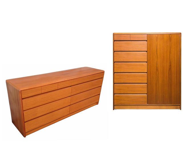 COMMING SOON - 2pc Matching Danish Modern Teak Dresser + Gentleman's Chest By Nordisk = Dyrlund, Torring, Keibaek Bedroom by RetroSquad