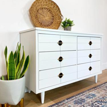 SOLD Boho Modern • White MCM Dresser/Buffet/Console by SunnyPatina