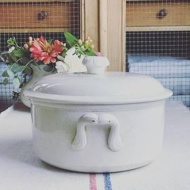 Beautiful rare  find vintage French ironstone soup tureen- STR1 by Grainsacfrenchvintag