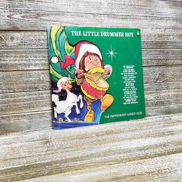 Vintage The Little Drummer Boy Record 33 1/3, Peter Pan Records LP Album, The Peppermint Kandy Kids, Retro Christmas Music, Vintage Vinyl by AGoGoVintage