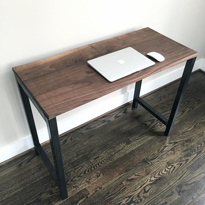 The KEYSTONE Reclaimed Wood Desk - Reclaimed Black Walnut Desk by arcandtimber