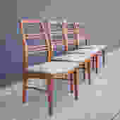 Restored Vintage Dining Chairs-Set of 4