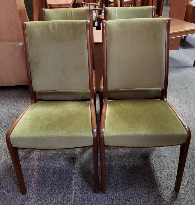 Item #MA63 Set of Four Mid Century Teak Dining Chairs c.1960