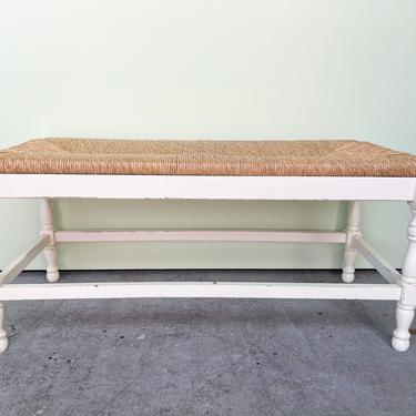 Italian Rush Seat Bench