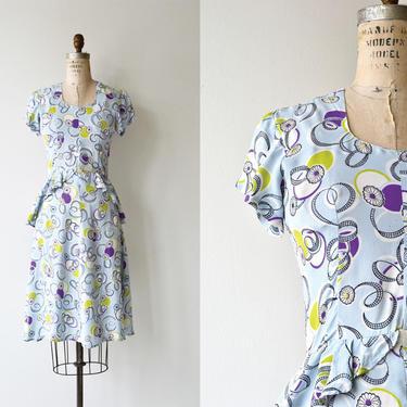 Notions silk dress   vintage 1930s dress   silk 30s dress by DEARGOLDEN