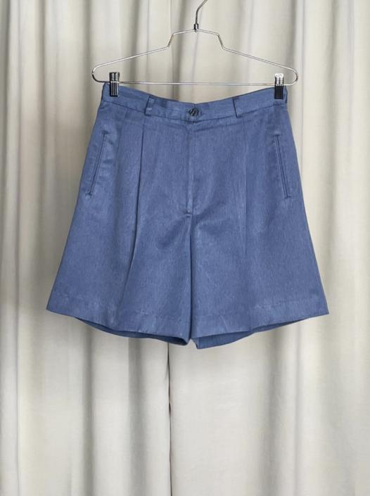 Vintage Pearly Blue Shorts