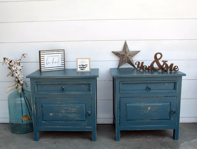 Blue Moon Nightstand \/ End Table Set