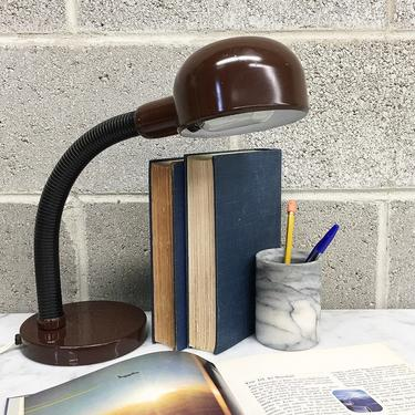 Vintage Desk Lamp Retro 1970s Mid Century Modern + Elbow + Duct Hose + Adjustable Goose Neck + Mood Lighting + Home + MCM + Table Decor by RetrospectVintage215