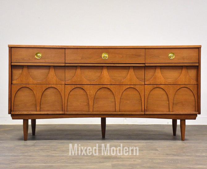 Broyhill Brasilia Style Walnut Dresser by mixedmodern1