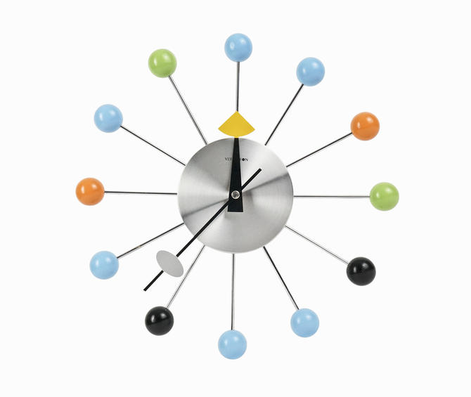 George Nelson Ball Clock Wall Mid Century Modern by VintageInquisitor