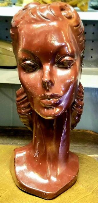 1950s Barbie style store display ceramic bust. by MOBvintage