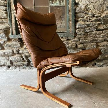 Mid century lounge chair Scandinavian modern sling chair Ingmar Relling for Westnofa siesta chair by VintaDelphia