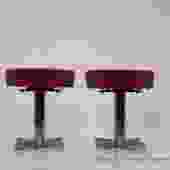 Pair of Chrome Modern Stools