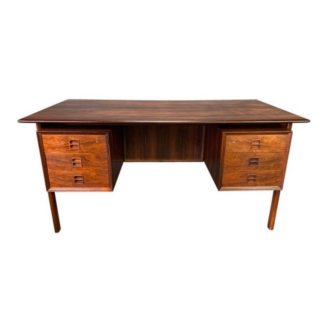 Vintage Danish Mid Century Modern Rosewood Desk Attributed to Arne Vodder by AymerickModern