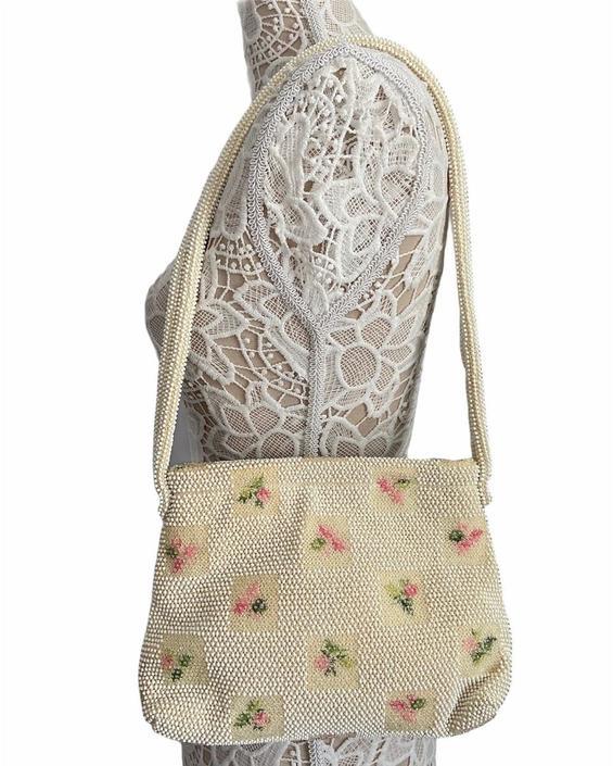 50s Lumured Bead Handbag by InstantVintage78