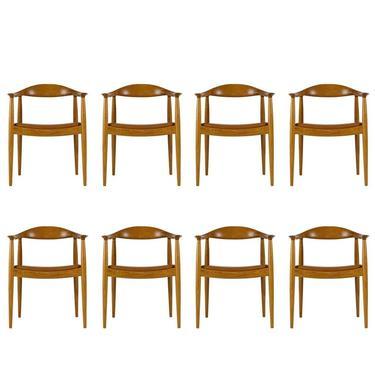 Set of Eight Hans Wegner JH-503 Chairs