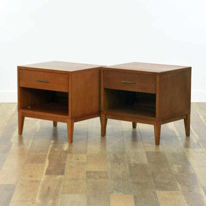 Pair Of Contemporary Craftsman Style Night Stands
