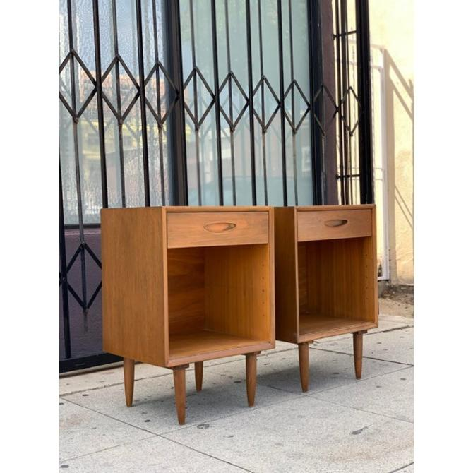 Tall Standing Mid Century Nightstands by VintageOnPoint