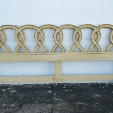 French Painted Distressed King Size Headboard 2115