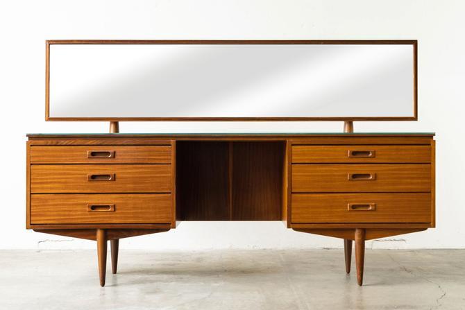 Danish Modern Teak Vanity w/ Mirror by formermodern