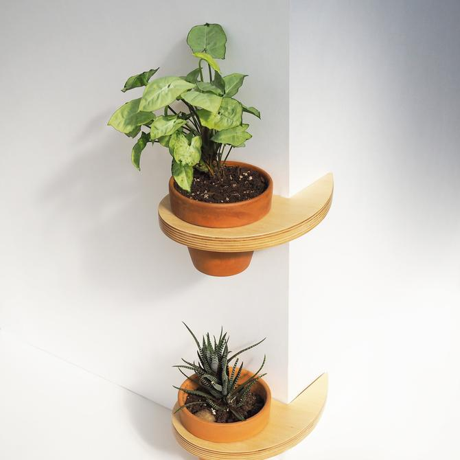 Pot Hanging Corner Shelf - 6 inch by HerbsFurniture