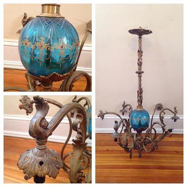 Antique chandelier, architectural salvage