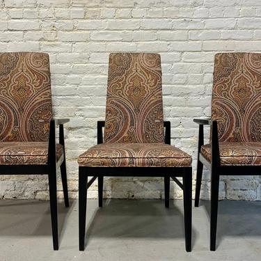 Mid Century Modern Paisley Ebonized Dining Chairs, Set of Three by CIRCA60