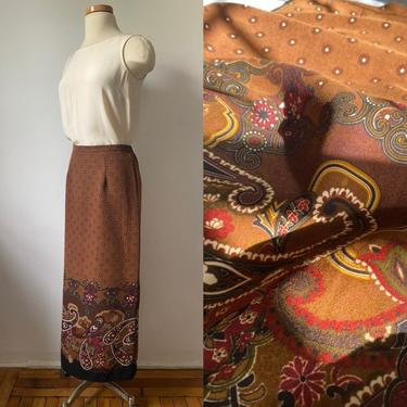 90s Paisely Skirt by DiscoLaundryVintage