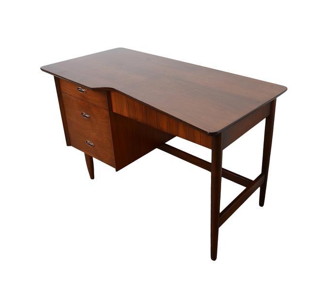 Walnut Desk Mainline Made by Hooker Mid Century Modern by HearthsideHome