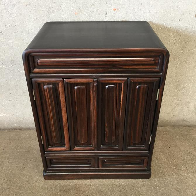 Vintage Buddhist Altar Cabinet with Rosewood Panels