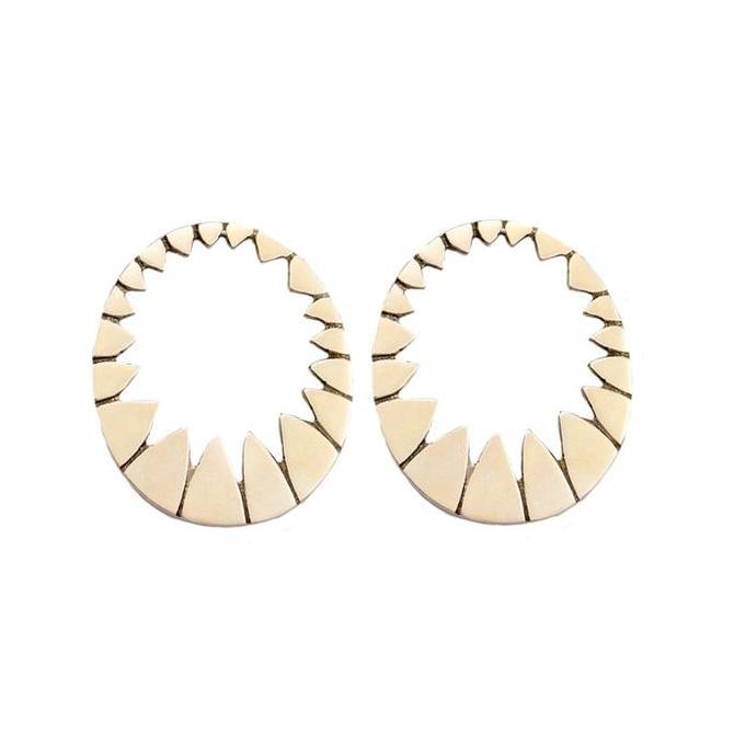 Medium Stella Earrings - Brass