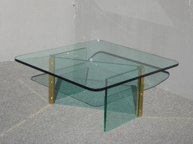 Vintage Mid Century Modern Leon Rosen for Pace Z Shaped Coffee Table ~ Square by VintageLAfurniture