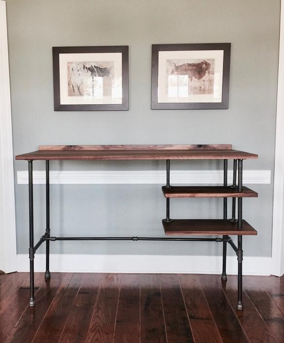 Reclaimed Wood Desk by arcandtimber