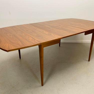 mid century modern Kipp Stewart/Stewart MacDougall Drexel Declaration rectangular drop leaf expandable dining table by AtomicJunkiesGallery