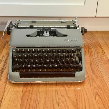 1957 Olympia SM3 DeLuxe Portable Typewriter with Case, Extra Ribbon, Owner's Manual by Deco2Go