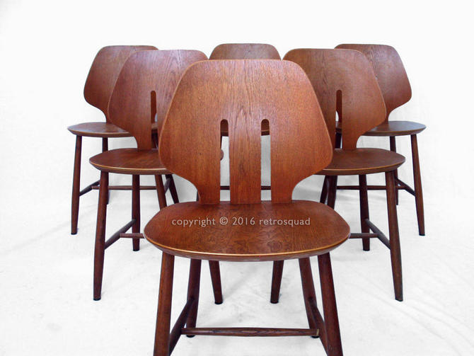 6 Danish Modern MCM Dining Chairs by Ejvind A. Johansson for FDB